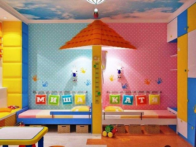 Дизайн детской для девочки и мальчика в