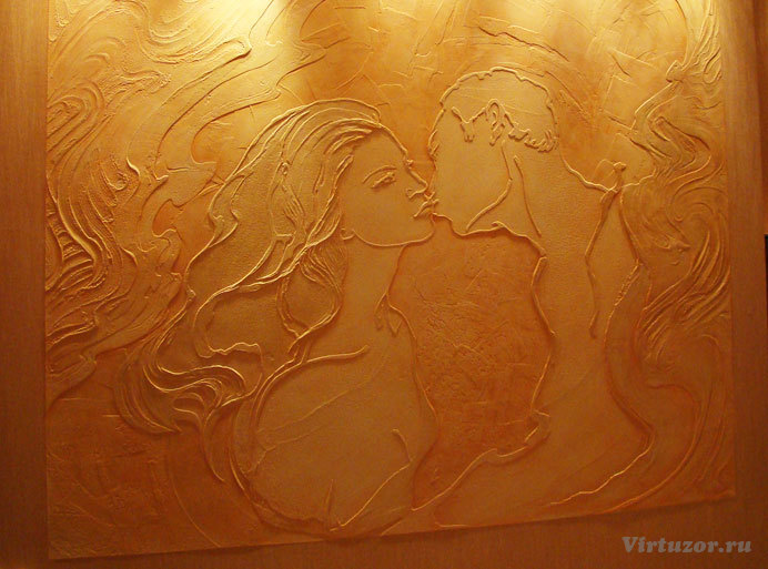 фактурная штукатурка рисунок на стене