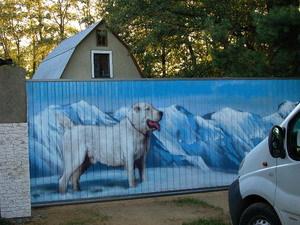 Красивый рисунок на заборе из профнастила