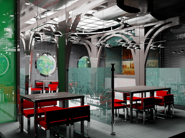 Ресторан в стиле хай-тек