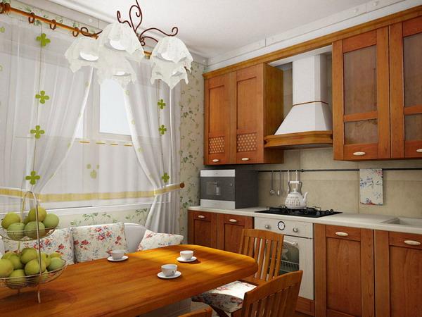 Дизайн маленькой деревенской кухни фото