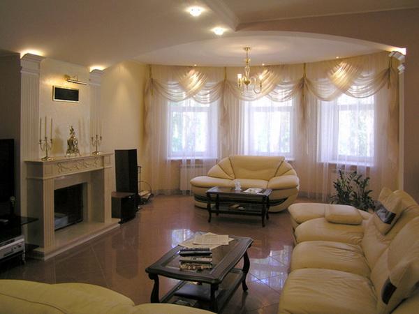 Дизайн зала 30 кв м в доме