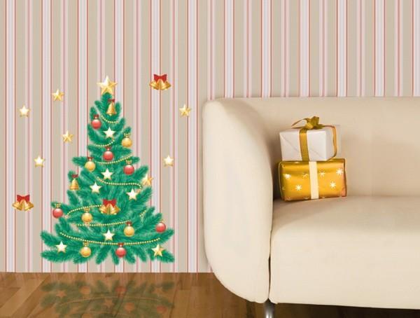 Новогодняя наклейка елочка