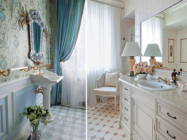ванные комнаты фото в голубых тонах