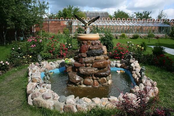 Сделать садовый фонтан своими руками 76