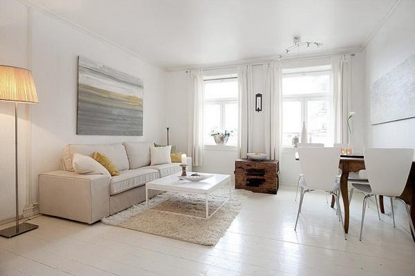 Белый пол в квартире