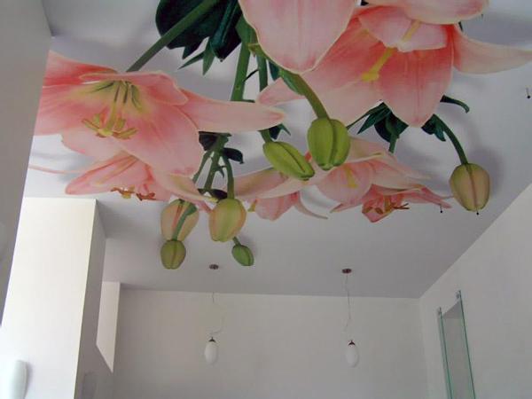Фотообои на потолке