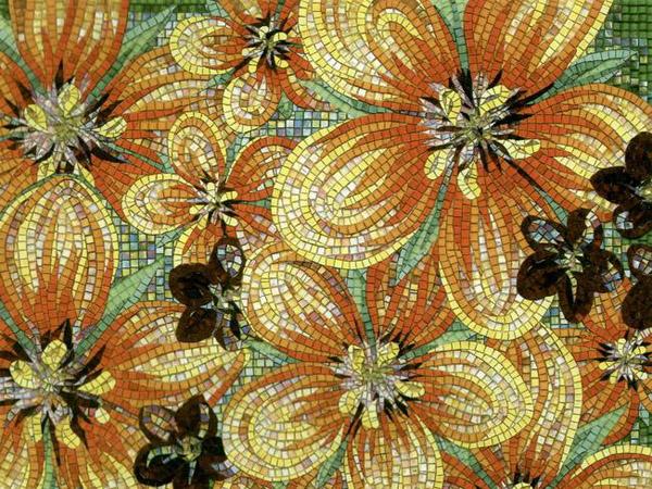 Панно из мозаики фото
