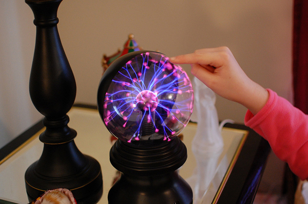 Светильник плазменный шар фото 478-1