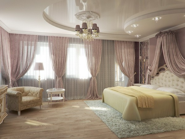 красивый потолок фото в спальне