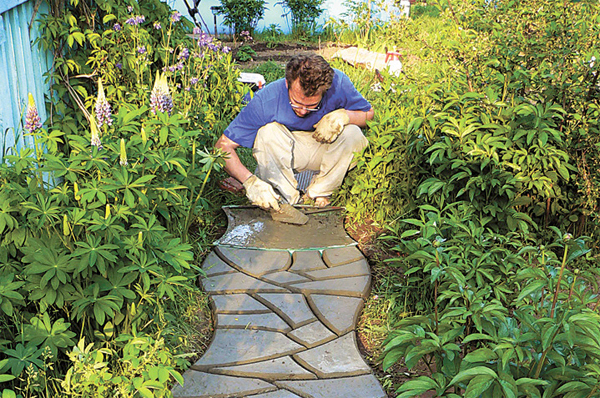 Фото садовые дорожки своими руками с малыми затратами