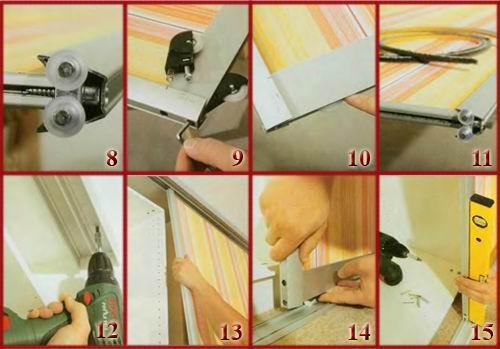 Установка дверей купе своими руками видео в шкаф