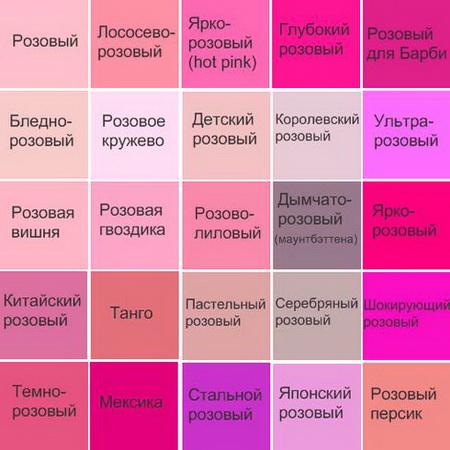 Стены розового цвета