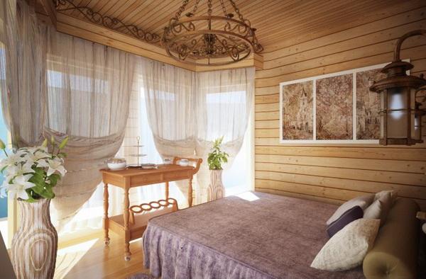 Дизайн комнаты с вагонкой