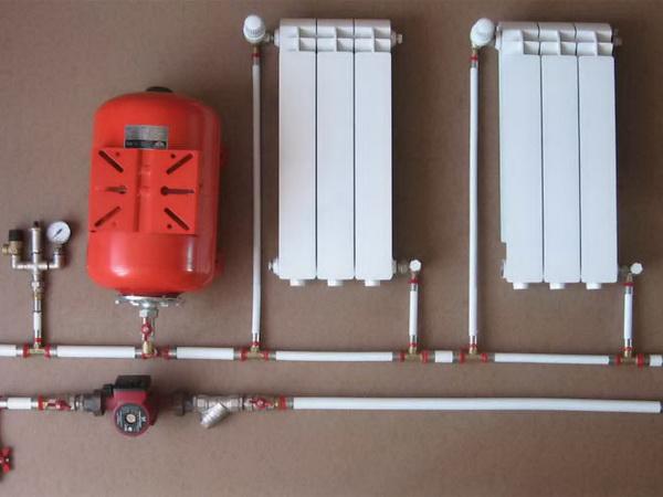 Установка расширительного бака в системе отопления