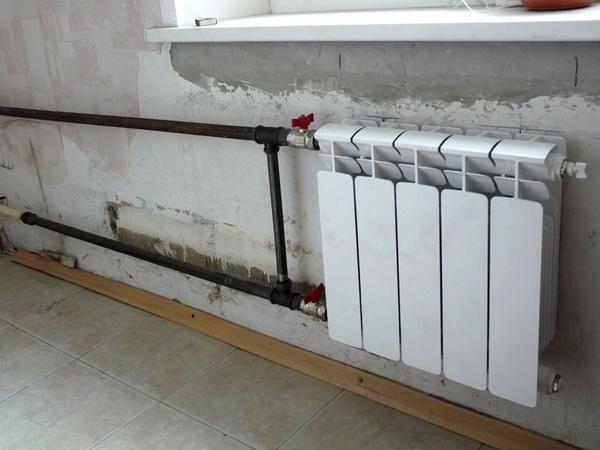 Подключение радиаторов к трубам