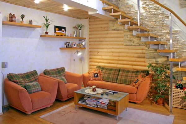 Отделка деревянного дома из бруса