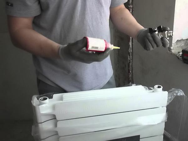 Сбор батареи отопления
