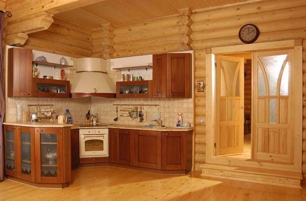 Отделка деревянных домов из бревна