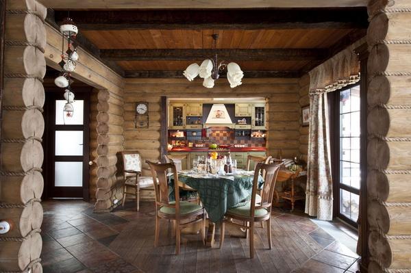 Дизайн внутренней отделки деревянного дома